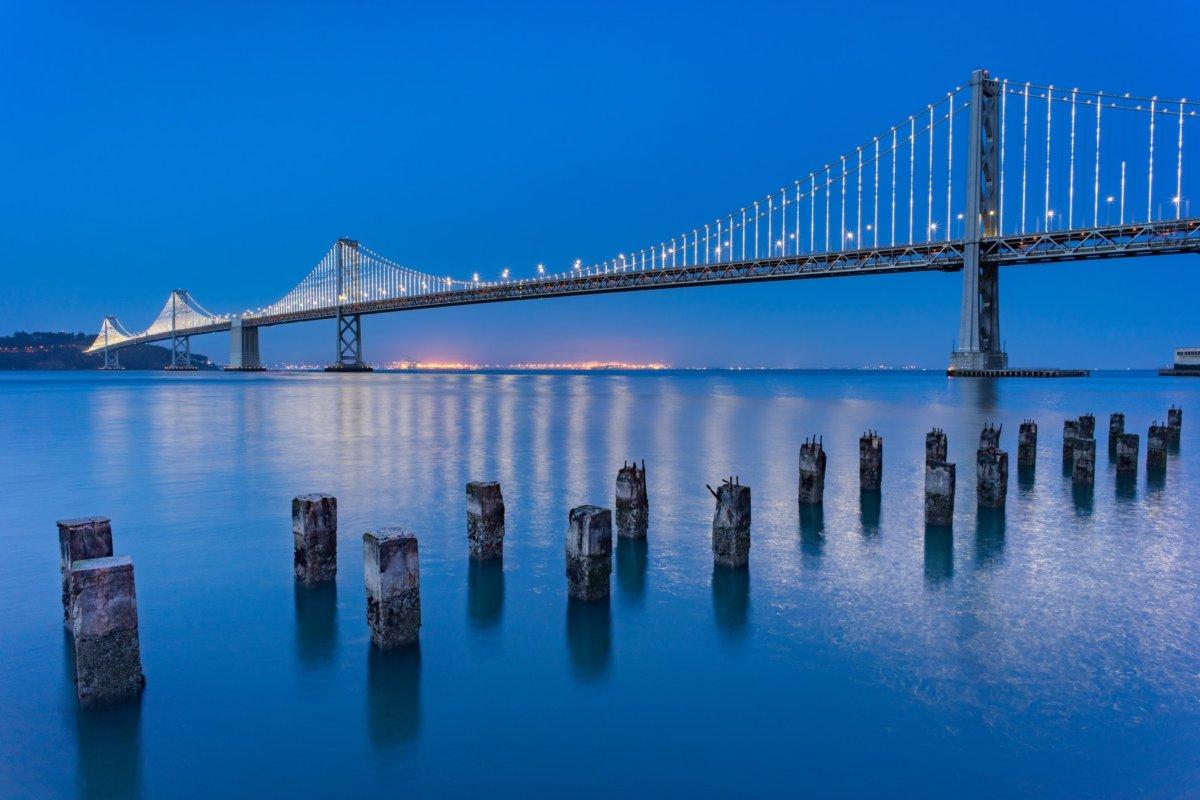 photo du pont d'Oakland Bay Bridge, Fuji X100F