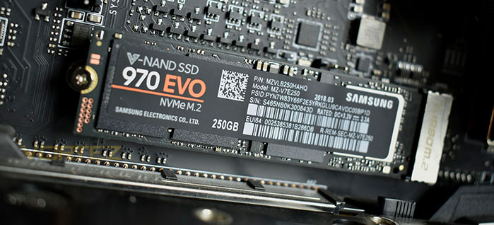 Samsung 970 EVO ou PRO config montage vidéo