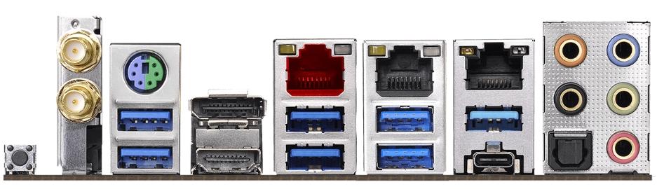 ASRock Z390 Taichi Ultimate ports 1