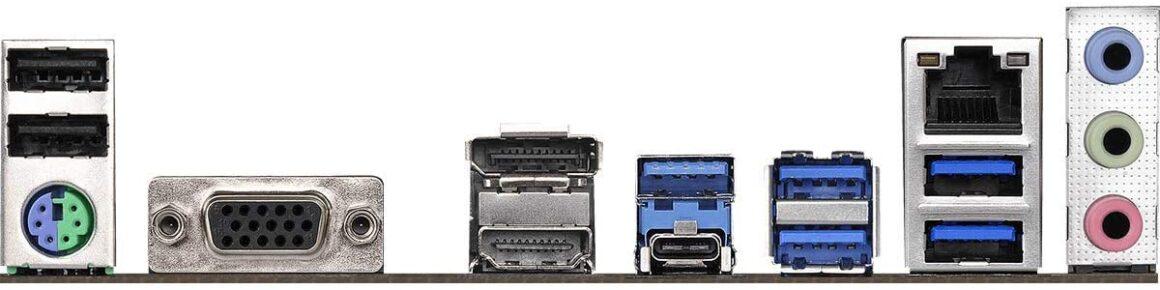 ASRock B450 Gaming K4 ATX ports