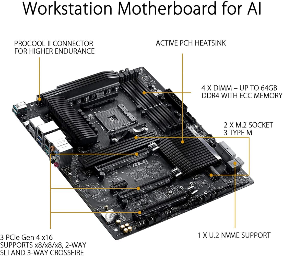 ASUS Pro WS X570 Ace ATX carte mere