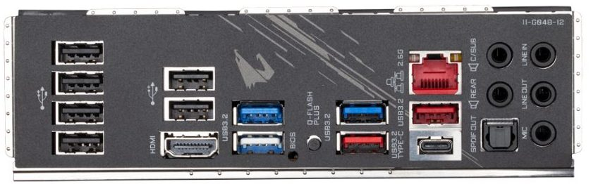 Gigabyte B550 Aorus Pro ports