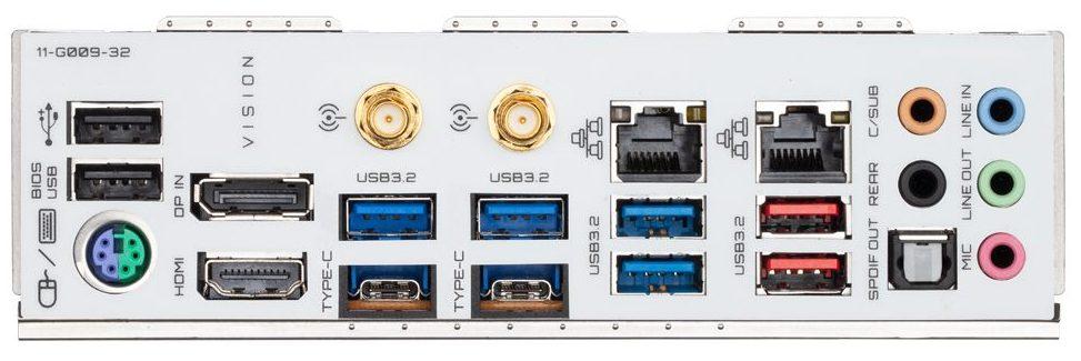 Gigabyte B550 Vision D ports
