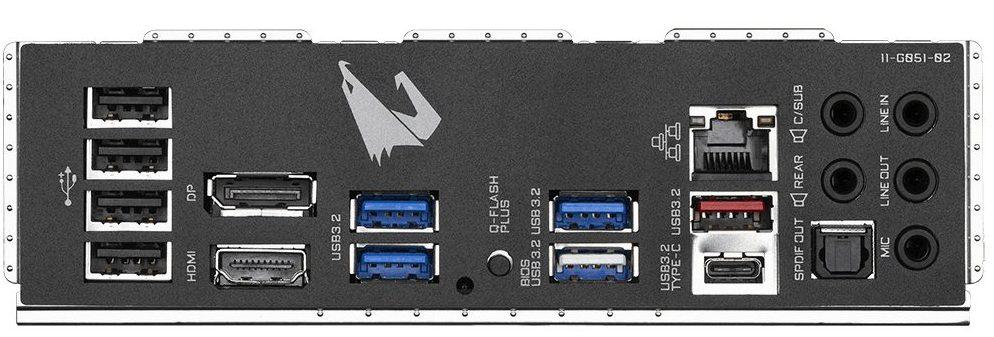 Gigabyte B550M Aorus Pro ports