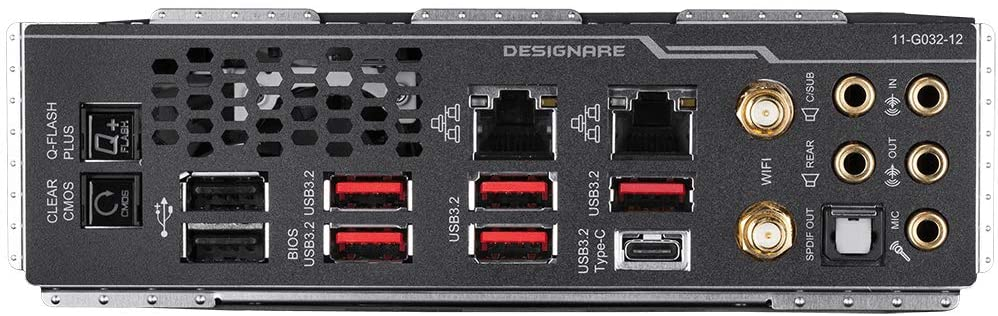 Gigabyte TRX40 Designare ports
