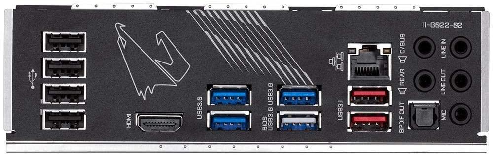 Gigabyte X570 AORUS Elite WIFI ports