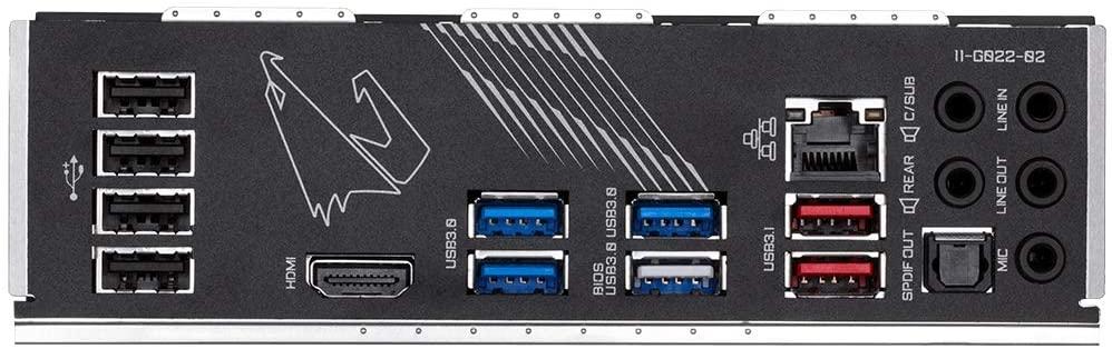 Gigabyte X570 Aorus Elite ATX ports