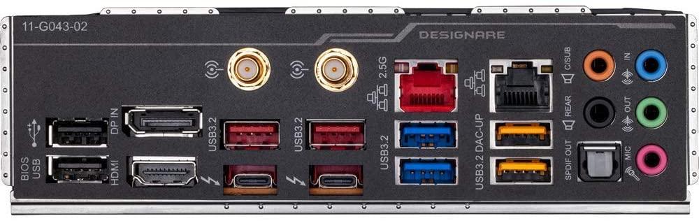 Gigabyte Z490 Vision D ports
