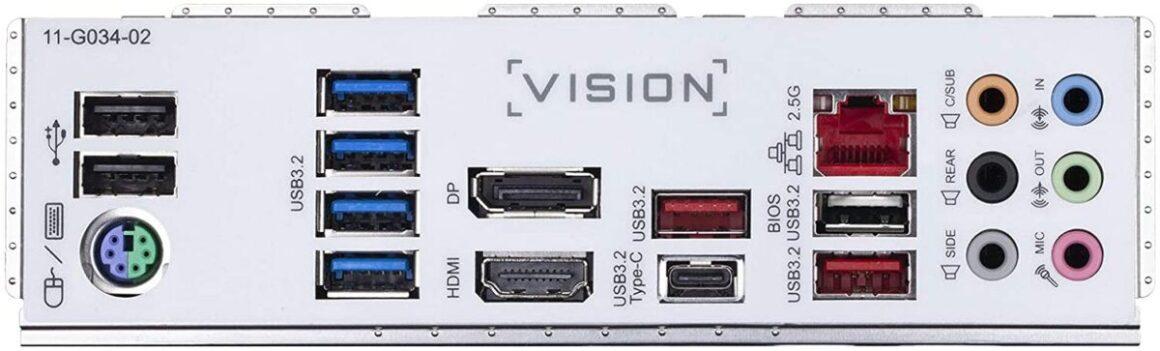 Gigabyte Z490 Vision G ports