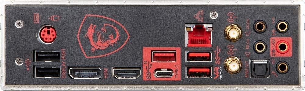 MSI MPG Z390 Gaming Pro Carbon ports