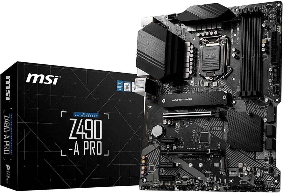 MSI Z490 A Pro 1