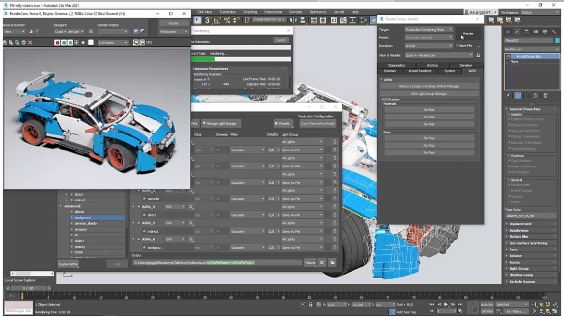 3ds max taches actives